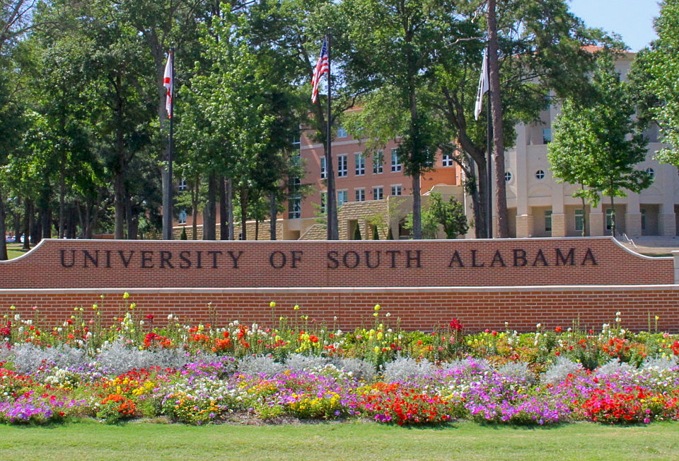 University South Alabama Sign