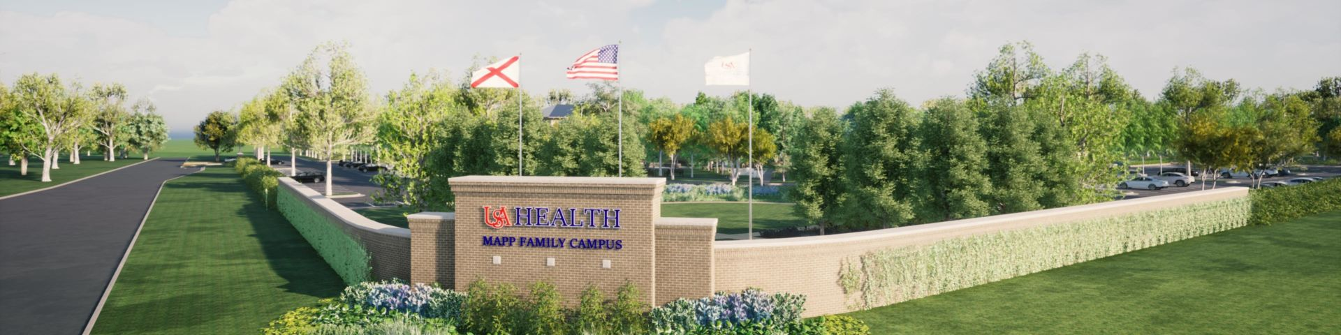 Mapp Family Campus - Front Rendering