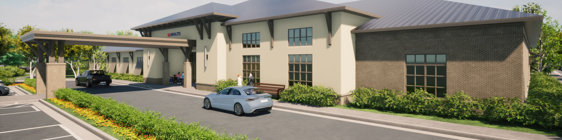 Mapp Family Campus Entry Rendering