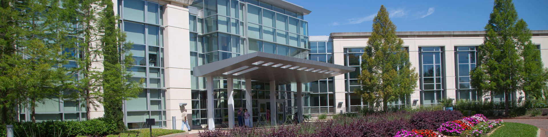Exterior of the Mitchell Cancer Institute